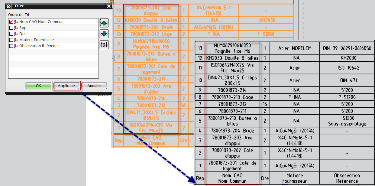 Automatic sort in parts list nx75 siemens ugnx eng tips i have a template with part list that works well but the sort order is not respected i have to apply it is is as designed or am i wrong in nx75 pronofoot35fo Images