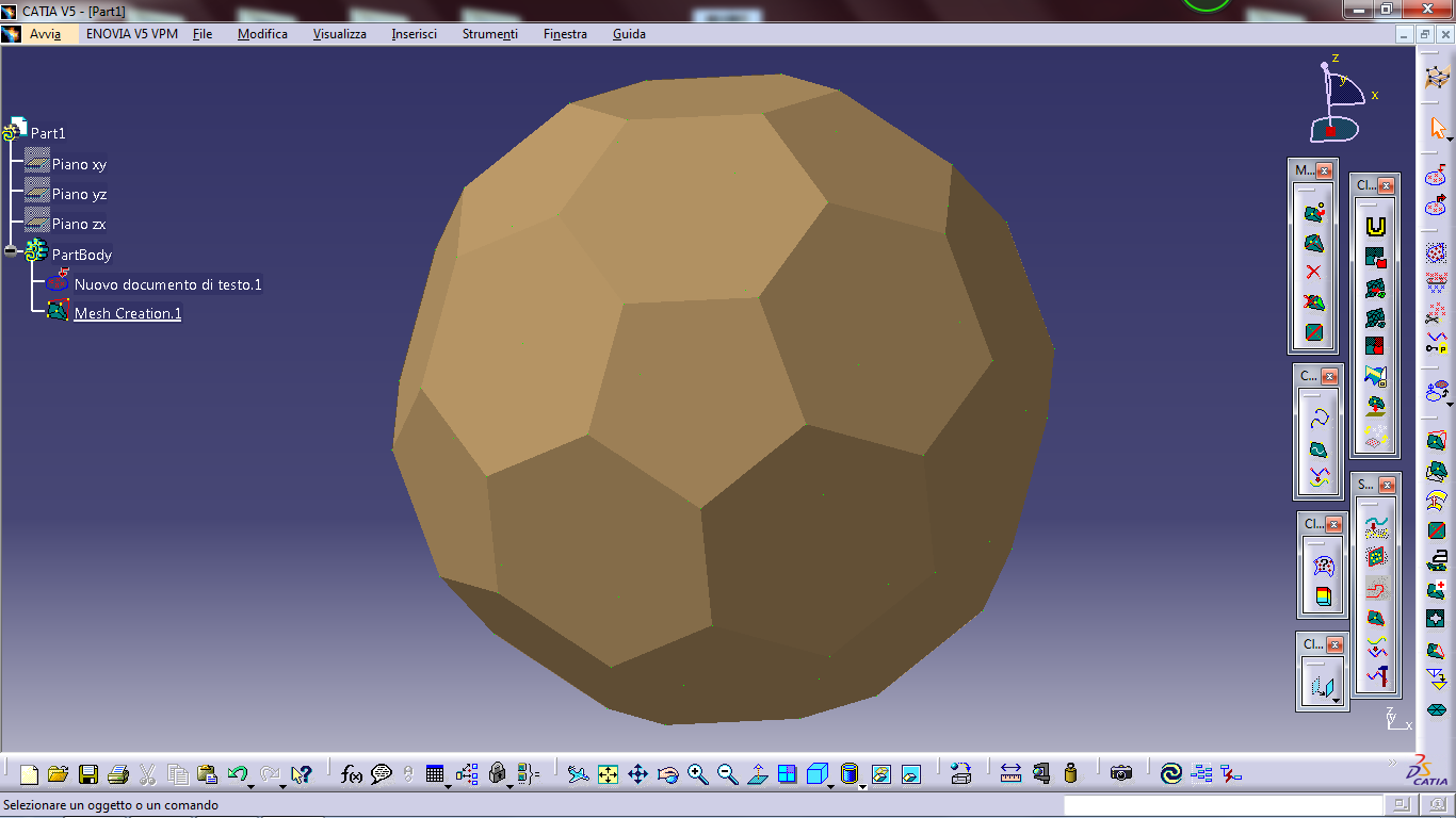 draw with a catia all the Dual Geodesic Icosahedra