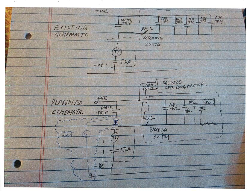 interposing relay wiring diagram by passing circuit breaker trip is this possible electric power  by passing circuit breaker trip is